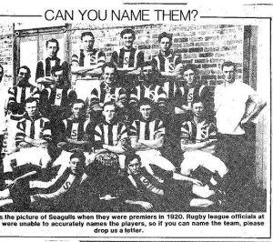 Tweed Heads Seagulls Premiership Team 1920